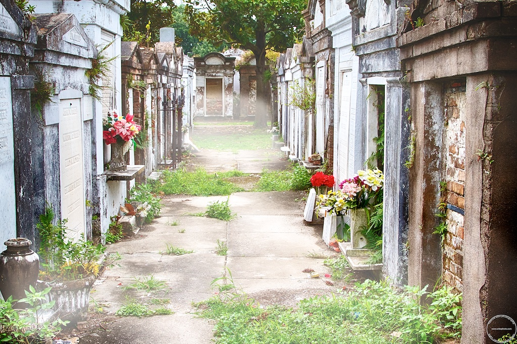 Misty morning at Lafayette Cemetery No. 1, New Orleans