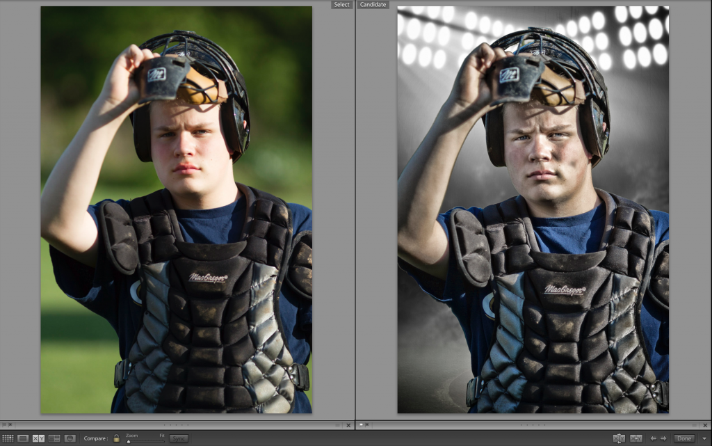 Catcher Before After